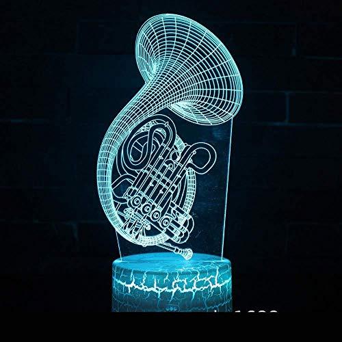 3D Illusion Night Light bluetooth Smart Control 7 & 16M Couleur Mobile App Led Vision Instrument de musique Série Décorations Chambre de bébé En gros USB coloré Cadeau créatif