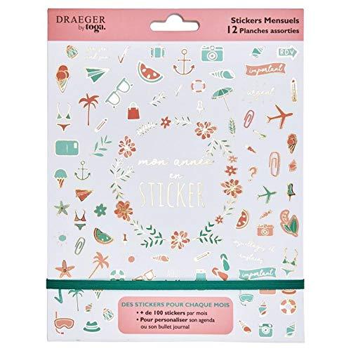 Draeger Paris - Stickers mensuels pour Agenda/Bullet Journal