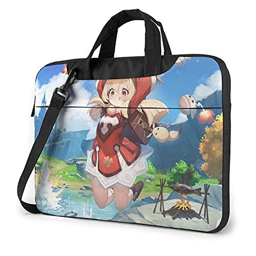 KKDS Borsa Porta PC Genshin Impact Klee,Anime Laptop Sleeve Portatile Ventiquattrore Multifunzionale Impermeabile Custodia