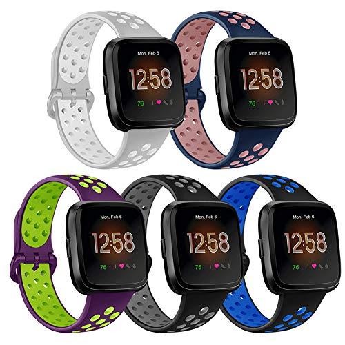 Tobheo Compatible con Fitbit Charge 2 Correa Mujeres Hombres, Pulsera de Reemplazo Ajustable Acero Inoxidable Strap Compatible para Fitbit Charge 2