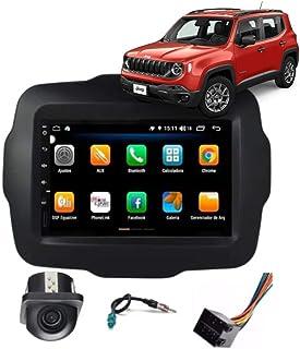 Multimídia Jeep Renegade Tela 7'' Android 9.0 Gps Câmera de ré e Frontal Sem TV 2GB Aikon