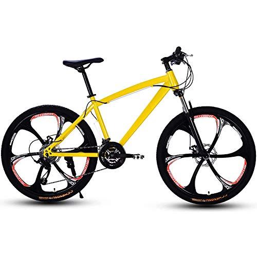 YDBET Mountainbike für Erwachsene, 27-Gang Erwachsener Rennrad Off Road Doppelscheibenbremse für Männer und Frauen,C,24 Inch