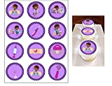 12 Edible Doc McStuffins Cupcake toppers - cake decorations for cupcakes or muffins