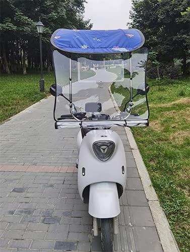WYB Motor Scooter Umbrella Mobility Sun Shade & Rain Cover Impermeable, toldo en Forma de 7 para vehículos eléctricos