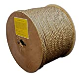 T.W Evans Cordage 25-055 5/8-Inch by 300-Feet Pure Number-1 Manila Rope Reel