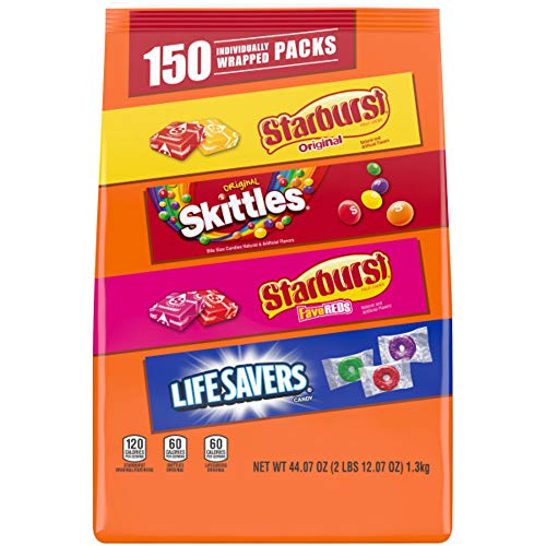 Wrigley Variety Skittles, Starburst & Life Savers Fun Size Chewy Candy, Assorted, 44.07 Oz, 150...