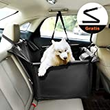 Kohree Hunde Autositz, für kleine bis mittlere Hunde + Gratis Anschnallgurt, Hundekorb Hundesitz Auto Hundedecke Rücksitz für Rückbank Einzelsitz Wasserdicht Abriebfest 58 x 50 x 36 cm