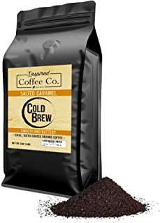 Salted Caramel - Flavored Cold Brew Coffee - Inspired Coffee Co. - Coarse Ground Coffee - 12 oz. Resealable Bag