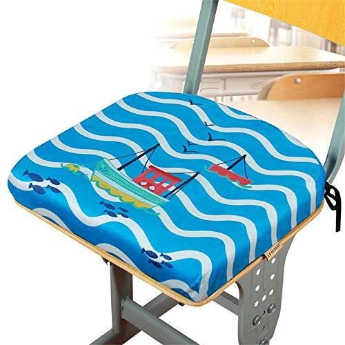 Nileco Cartoon Plush Thicken Seat Cushion,Non Slip Washable Chair Pad with Ties for Office Chair Wheelchair Classroom,Square Memory Foam Chair Cushion