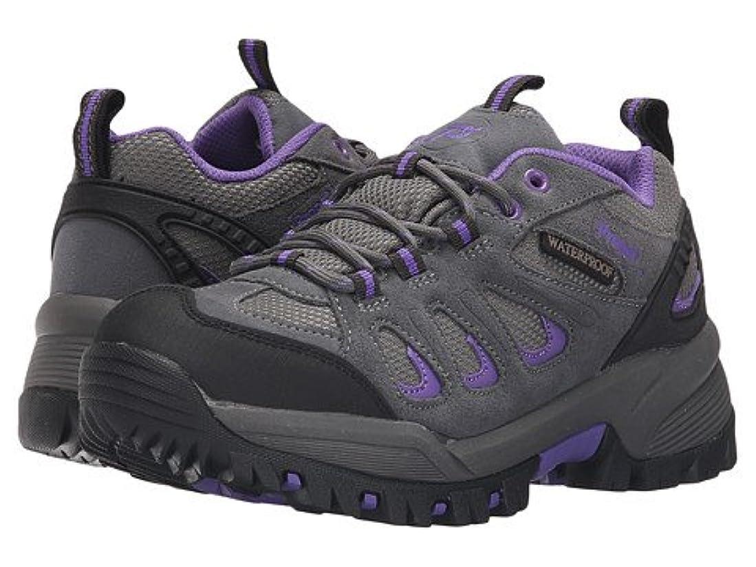 連帯通常夢中(プロペット)Propet レディースウォーキングシューズ?カジュアルスニーカー?靴 Ridge Walker Low Grey Purple 9.5 26.5cm X (2E) [並行輸入品]