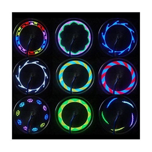 Iuhan Fashion 14 LED Motorcycle Cycling Bicycle Bike Wheel Signal Tire Spoke Light 30 Changes
