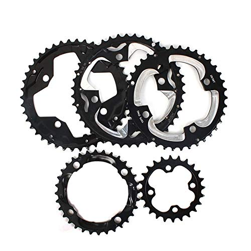 104 / 64BCD Chainring 24/26/32/38 / 42T Cadena de Bicicletas MTB del Anillo Doble/Triple Conjunto de Platos de Piezas de Bicicleta de montaña Accesorios Bielas (Color : 42T Steel)
