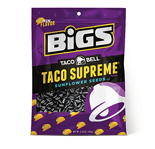 BIGS Taco Bell Taco Supreme Sunflower Seeds, Keto Friendly, 5.35-oz. Bag