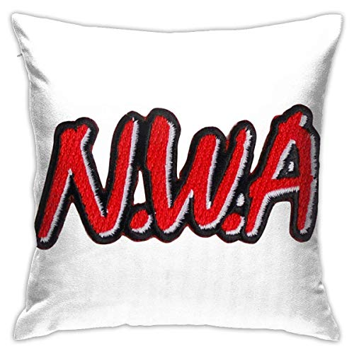 AOOEDM NWA Decorative Square Throw Pillow Covers Set Cushion Cases Pillowcases for Sofa Bedroom Car 18 X 18 Inch ???45 X 45cm??‰