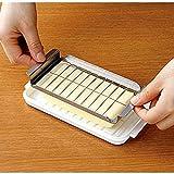 JUANstore Butterschneider Butter Messer Butterdose Butterdose Mit Deckel Und Slicer Butter Keeper Container Plastic,Weiß