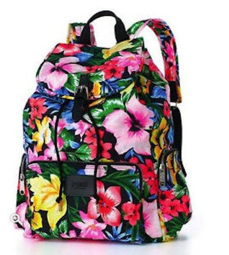 Victoria's Secret PINK School Handbag Backpack Book Bag Tote- Tropical Floral