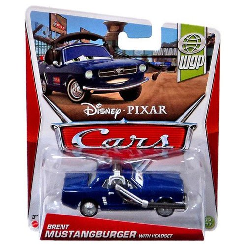 Disney Pixar Cars Brent Mustangburger With Headset (WGP Series, #15 of 17) - Voiture Miniature Echelle 1:55