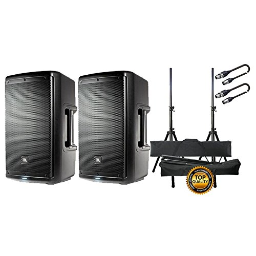 JBL Set Casse Attive/Supporti/Cavi XLR/XLR 10mt Bundle
