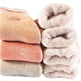 Womens Thick Cotton Winter Socks - Soft Warm Heavy Knit Thermal Cotton Boot Crew Socks(Pack of 3),Multicolor,Free Size 5-11