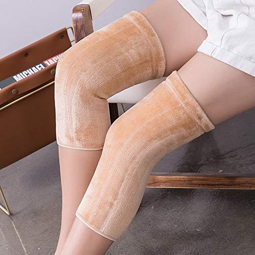 Sterrenhemel Vrouwen Kniebeschermers, wol-mix warme kniebeschermers, super stretch verdikt plus fluwelen beengewricht leggings (één maat)