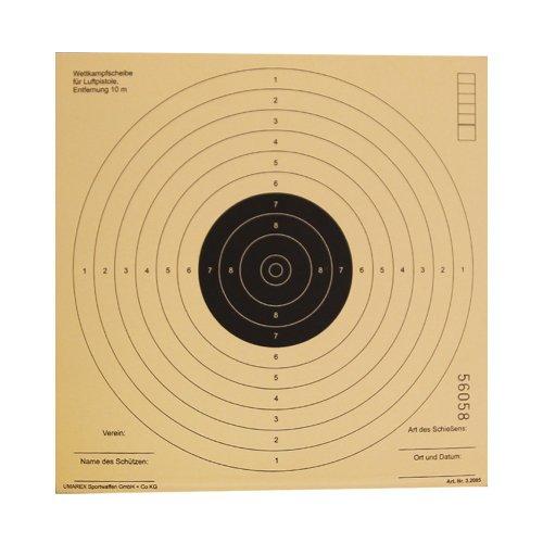 G8DS 250 Luftgewehrscheiben 17 x 17 cm/Zielscheiben für Luftgewehr Hohe Qualität
