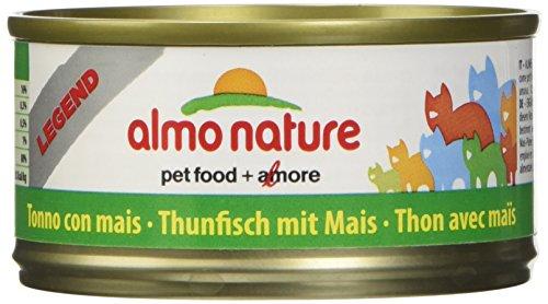 almo nature Megapack Katzenfutter nass Thunfisch mit Mais 6x70g, 1er Pack (1 x 0.420 kilograms)