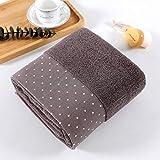IAMZHL Large Cotton Bath Shower Towel Thick Towels Home Bathroom Hotel For Adults Kids Toalha de banho Serviette de Bain-Coffee-2-3pcs(2pcs S 1pcs L)