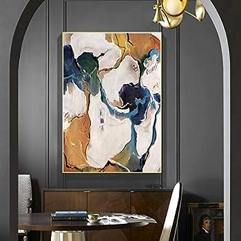 Geiqianjiumai Pintura al óleo Abstracta Moderna Lienzo Arte Pintura al óleo Regalo decoración del hogar Sala de Estar decoración de la Pared Pintura Pintura sin Marco 60X120cm: Amazon.es: Hogar