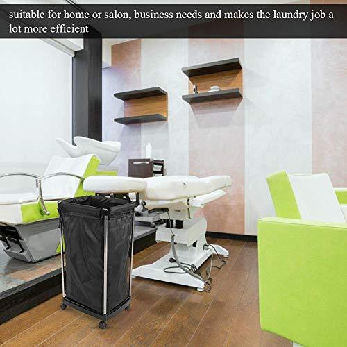 Salon Trolley – Heavy Duty – Laundry/Commercial/Industrial/Home/Salon/Washing Basket for Salon Beauty Massage Spa,Black