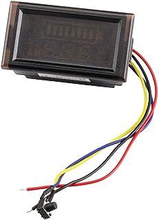 KKHMF DC 12V 24V 36V 48V 60V 72V 84V 防水ボルトメーター 電圧計 デフォルト12V 鉛酸蓄電池容量インジケータ