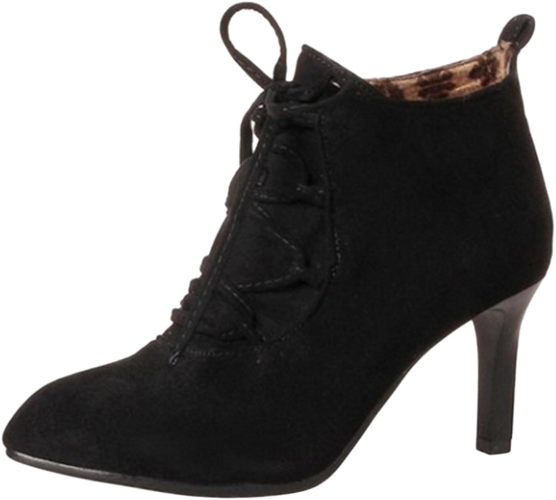 KemeKiss Women Fashion Heels Bootie Side Zipper