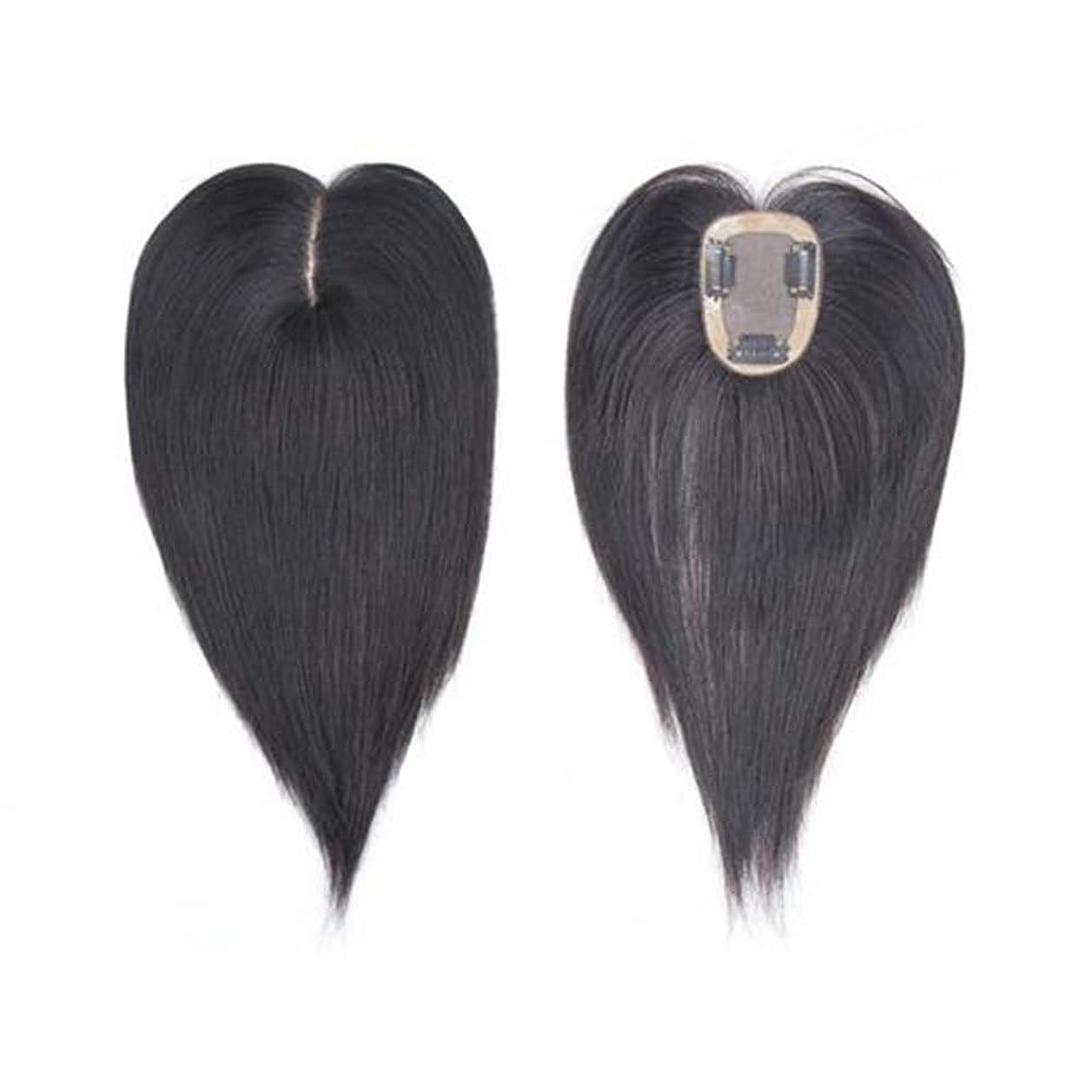 スキル健全苦悩Yrattary ダークブラウンロングストレートヘア手織りリアルヘアウィッグ女性のための人工毛レースかつらロールプレイングウィッグロングとショートの女性自然 (色 : Dark brown, サイズ : 35cm)