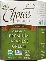 海外直送品Choice Organic Teas Premium Japanese Green Tea, 16 BAGS