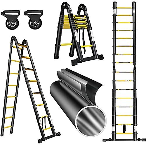 MIAE Escalera Plegable De Aluminio De 3,2 M Escalera Inclinada Escalera Telescópica...