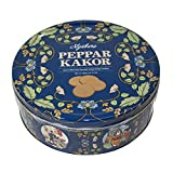 Swedish Ginger Snaps Cookies - Organic Vegan Dairy-Free Crackers - Great Snack with Coffee or Tea - Gift Tin for Birthday or Christmas - from Nyakers