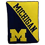 NCAA Collegiate Half Tone Super Soft Plush Throw Blanket (Michigan Wolverines)