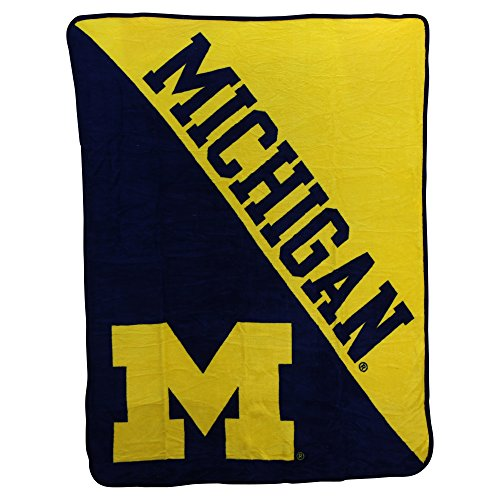 The Northwest Company NCAA Collegiate Half Tone Super Soft Plush Throw Blanket (Michigan Wolverines)