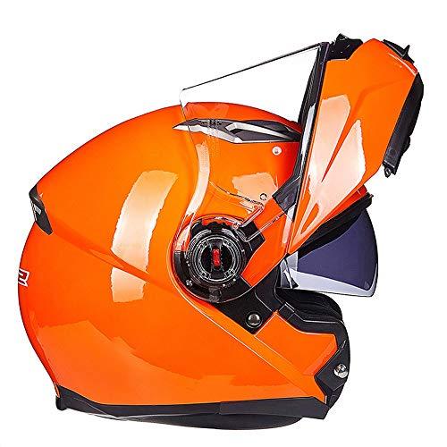 SJAPEX Leicht Professionel Integralhelme, Klapphelme Harley Motorrad-Helm Full-face Helmet Jet-Helm Motocrosshelme Mofa-Helm Biker Helmet mit Doppelvisiere, ECE und DOT Zertifiziert