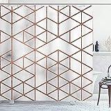 EURmermaid Cortina de la Ducha,Mármol de Oro Rosa,con 12 Ganchos de plástico Cortinas de baño Decorativas 72x72 Pulgadas