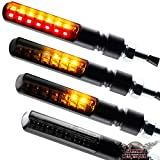 Motorrad LED Lauflicht Laufeffekt Blinker mit Rücklicht Bremslicht Sequentiell Blade schwarz...