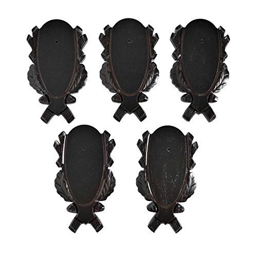 GTK - Geweihe & Trophäen KRUMHOLZ 5pieza geschnitzte Corzo Diseño de Corzo trofeo carteles oscuro