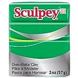 Sculpey III Polymer Clay 2 Ounces-Emerald