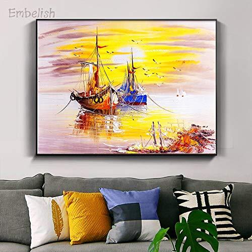 baodanla Geen frame Verkoop van Italiaanse Venetiaanse landschap muurschilderingen voor woonkamer huis canvas en slaapkamer poster