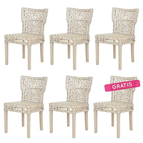 Rebajas : -63% Lote de 6 sillas de Ratan Gael