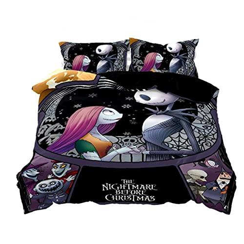 Nightmare Before Christmas Duvet Cover Set 3d Stampa Biancheria Da Letto Stile 2 Queen Size (no Inserts) Decorazioni Per La Casa Decorazioni Per La Casa