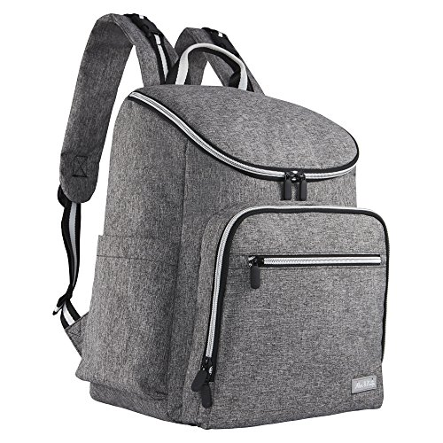 Diaper Backpack by Alex & Kate - Stylish Multi-Function Nappy Bag for Mom with Changing Pad - Large Capacity Waterproof for Baby Travel Maternity Parents, Gray