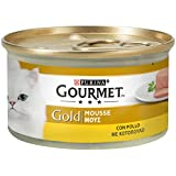 Gourmet Purina Gold Nourriture Humide pour Chat, Mousse au Poulet–24boîtes de 85g chacune