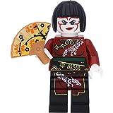 LEGO Figura de Ninjago en miniatura de Nya en el disfraz de Kabuki y con maquillaje Kabuki