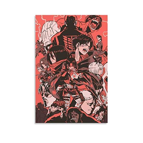 VGFD Póster de anime Crossovers in 2020 Attack on Titan Anime Canvas Art Poster and Wall Art Print Moderno Familiar Dormitorio Decoración Posters 20 x 12 pulgadas (20 x 30 cm)