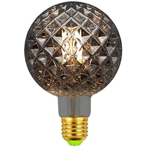 LED-Lampen Vintage Glühbirne φ95mm Sonderform Glas Edison-Lampe LED-Filament 4W 2500K Wärme Glow 220 / 240V E27 Dekorative Lampe (CTY-G95-SMK)